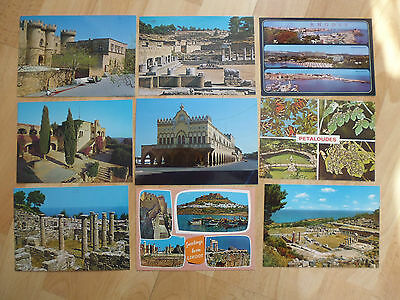 Vintage 9 X postcards of Rhodes Greece unused