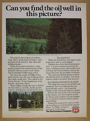 1977 Phillips 66 Utah Oil Well photo Environmental Protections vintage print Ad