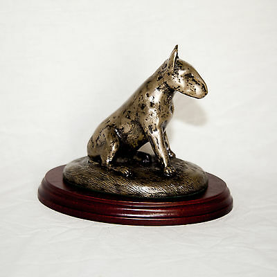 BULL TERRIER  Bronze Figurine. Hand made in England. Ideal gift.