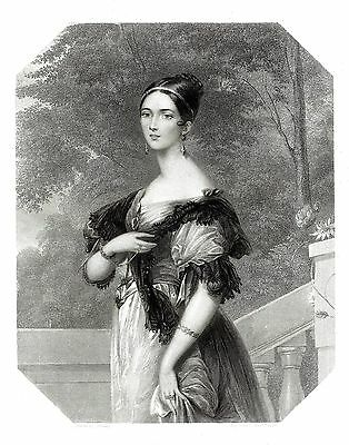 Lady Angela Pearson (Court of Queen Victoria) By E. Finden after  Baulay 1842