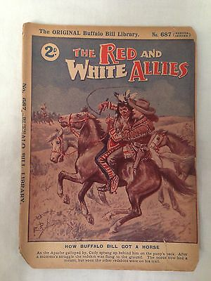 Buffalo Bill Library No 687 - Red and White Allies - Original Western Pulp 1920s