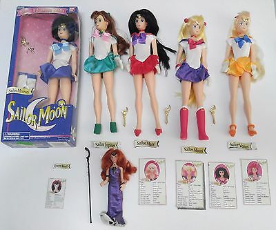 Sailor Moon Bandai 11.5 In Deluxe Adventure Dolls Lot Six Figures Beryl 1995