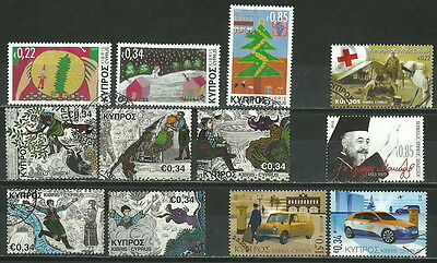 Cyprus 2013 - 12 Used Stamps ( Five Sets ) Lot Collection (Μεξ 089)