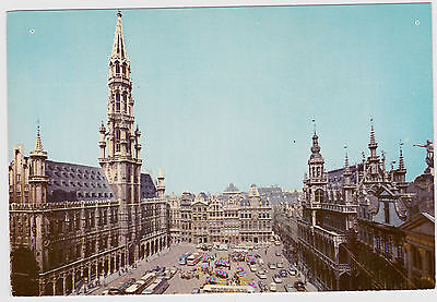 Postcard Brussels Belgium. The Grand Square. Unposted