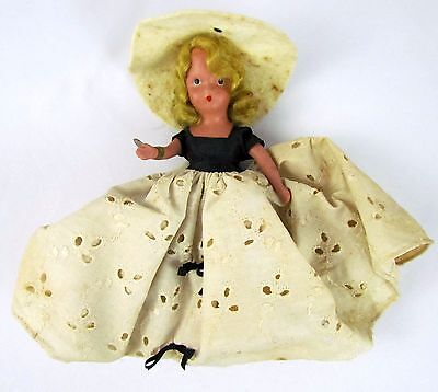 """Vtg 6"""" Nancy Ann Storybook Dolls of the Month Series AUGUST GIRL #194 w/ Tag"""