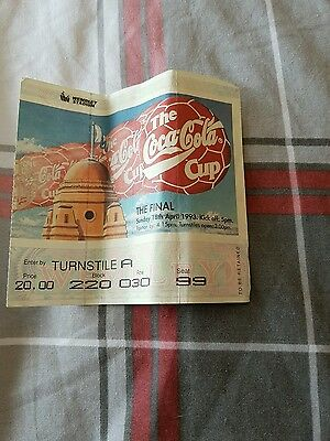 1993 league cup final ticket