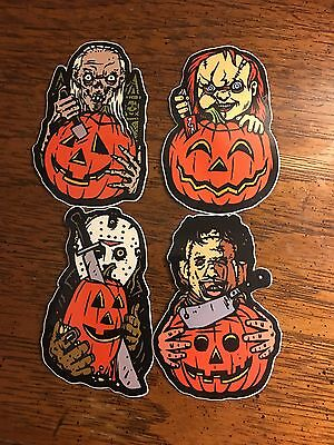 Horror Stickers Jason Voorhees Friday The 13th Chucky Leatherface Crypt Keeper