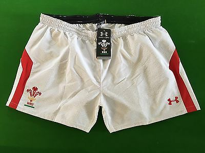 UNDER ARMOUR WRU Rugby Shorts White 2XL