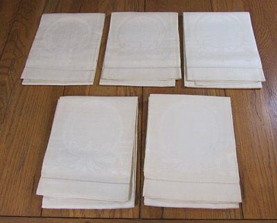 8 Antique Pure Irish Linen TOWELS Philadelphia Estate UNUSED
