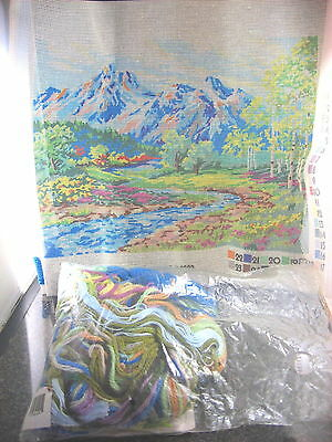 """VTG 1992 Dimensions Needlepoint Kit GLACIAL WATERS 2397 Hard to Find 16"""" x 12"""""""