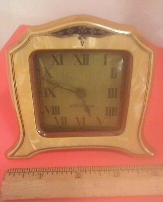 """Vintage New Haven Art Deco Celluloid Clock """"as Is"""""""