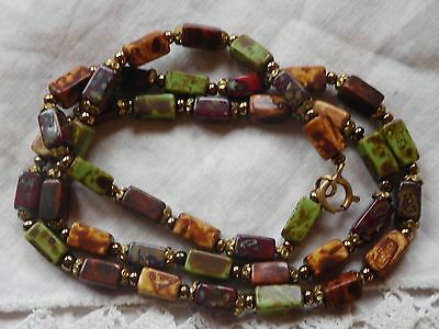Lovely Vintage 1960s Colourful Glass Bead Necklace