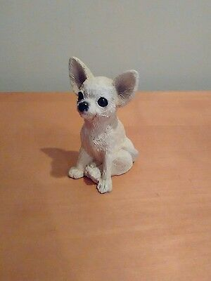 Stone Critters Chihuahua Puppy Dog Figurine Made In USA