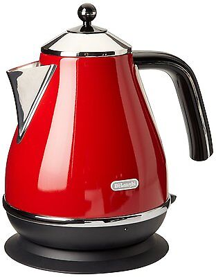 Brand New Delonghi KBO1401R Icona 1.7-Litres Electric Kettle, Red