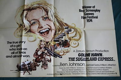 The Sugarland Express  UK quad poster 1974 Goldie Hawn, Spielberg