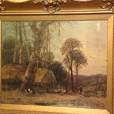 """19th C EAST ANGLIAN SCHOOL OIL PAINTING """"RURAL LANDSCAPE"""""""