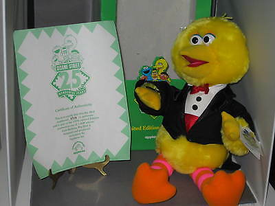 New Applause Sesame Street 25Th Birthday Limited Edition Yellow Big Bird In Tux
