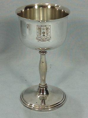 Vintage Evesham Rowing Club Silver Plated Rowing Trophy Goblet