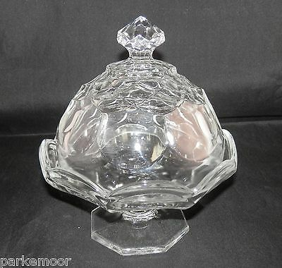 PV01660 LE Smith #75 DOMINION HONEYCOMB Pedestal Candy Dish with Lid