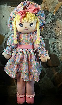 Sweetie Mine Life Size Cloth Rag Doll Large Well Made Toys Vintage Pink Blonde