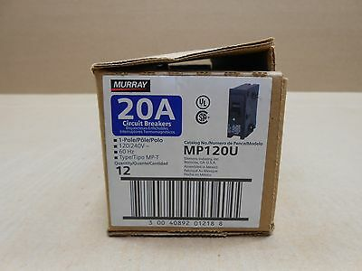 12 Nib Murray Mp120 Mp Circuit Breaker 20A 20 Amp 1P 240V 240 Volt Box Of 12