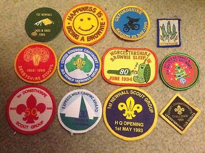 Scout badge collection ideal for a camp blanket