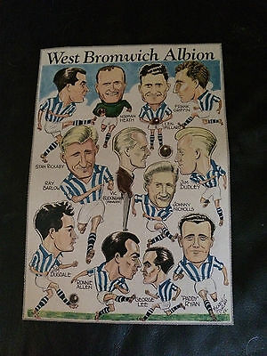 Team Group Photo Poster / Foto Del Equipo - West Bromwich A.1954 By F.monthly