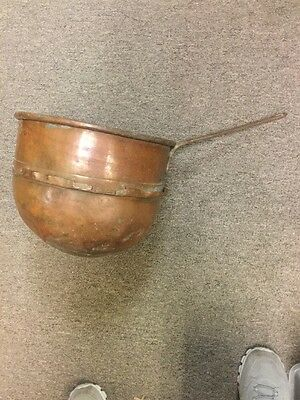Antique Early 1800's Apple and Butter Pot - Copper - Morandi Proctor- Boston