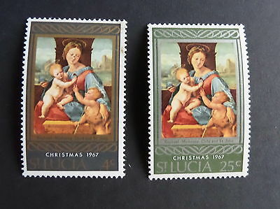 St Lucia 1967 Christmas SG241/2 UM MNH unmounted mint religion art painting