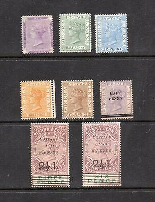 Sierra Leone 1859-1897 Queen Victoria Stamps Mounted Mint HCV See Scan