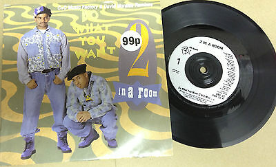 """2 IN A ROOM-Do What You Want-House-7"""" Vinyl Single 45rpm Record-SBK-1991"""