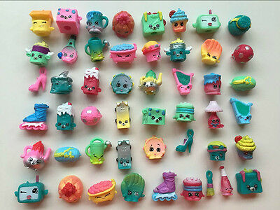 Random Lot of 50Pcs Shopkins of Season 5 All different Loose Shopkins Toys xmas