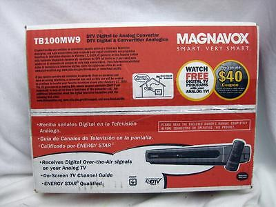 Magnavox TB100MW9 DTV to Analog Converter with Remote! New in the Box