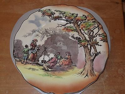 ROYAL DOULTON - THE GIPSIES, OLD ENGLISH SCENES PLATE Collectors Hand Painted