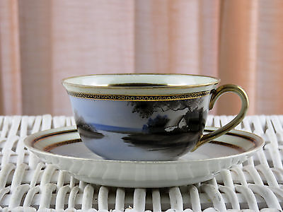 Vintage Noritake Morimura Hand Painted Made In Japan Cup & Saucer