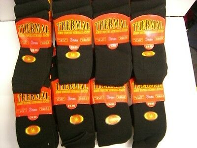 20 PAIRS THICK MEN`S Thermal Or  Work Socks black COLOR ONLY