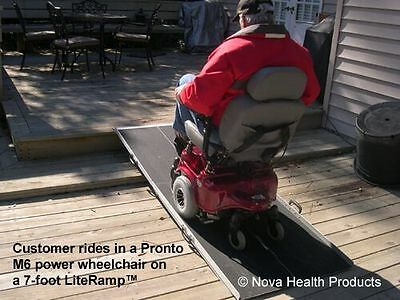 7' Wheelchair Scooter Ramp   Portable Ramps for Home / Auto   LiteRamp LR7