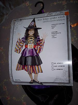 NEW Halloween COSTUME playsuit  SPIDER WITCH FITS TODDLER 2T 100% POLYESTER