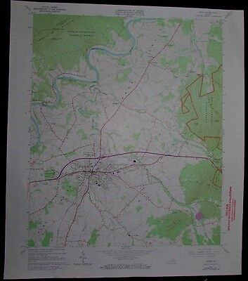 Luray Virginia Shenandoah River National Park vintage 1973 old USGS Topo chart