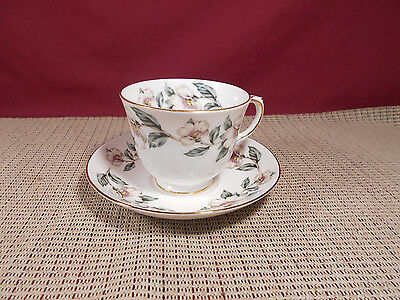 Crown Staffordshire Bone China Cup & Saucer Set Pear Blossom