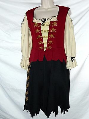 Women's Pirate Costume Halloween Size M See Measurements Dress ONLY