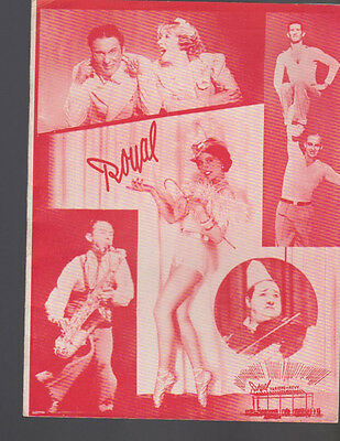 Royal Variety Theatre Sweden Program April 16 1938