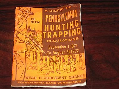 PA Pennsylvania Digest Of Hunting And Trapping Regulations 1971 1972 Game Comm