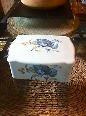 Axe Vale Pottery Trinket Box Or Butter Dish 1970s Retro