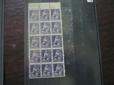 Lithuania   66  Mnh  Block Of 15