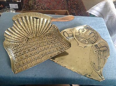 2 Bras Crumb Trays One With Brush.