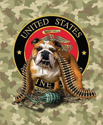 Sig. Collection Marines TNT Bulldog Camouflage High Quality Mink Style Blanket