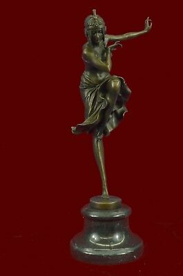 Signed Bronze Art Nouveau Deco Chiparus Statue Figurine Sculpture Art Figure Lrg