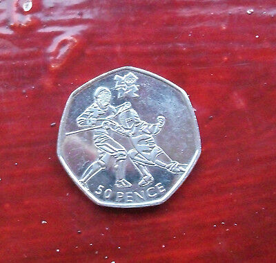 LONDON 2012 OLYMPIC 50p FENCING