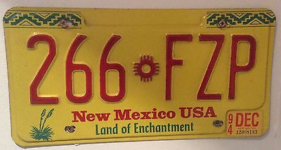 CLEARANCE Genuine Vintage American Metal Car Licence Number Plate New Mexico